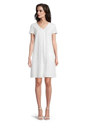 Betty Barclay V-Neck Dress - Bright White