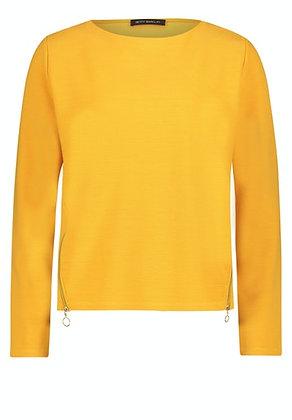 Betty Barclay Zip Sweater - Golden Yellow