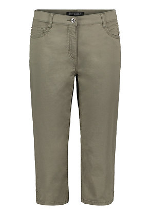 Betty Barclay Cropped Trousers - Olive