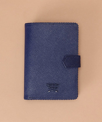 Samantha Thavasa Frill Passport Case - Navy