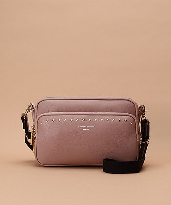 Samantha Thavasa Studs Shoulder Bag - Pink Beige