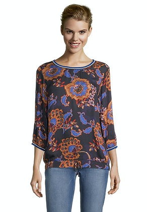 Betty Barclay Printed Blouse - Navy