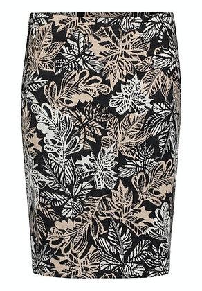 Betty Barclay Leaf Print Pencil Skirt