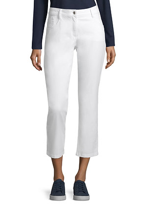 Betty Barclay White Denim Trousers