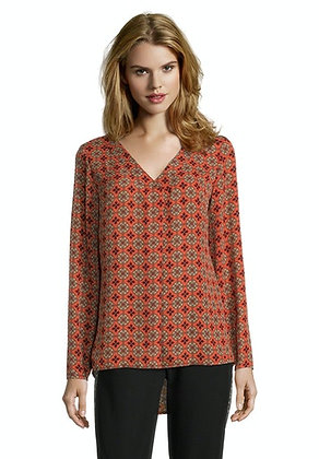 Betty Barclay Printed V-Neck Blouse