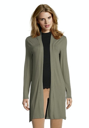 Betty Barclay Longline Cardigan - Dusty Olive