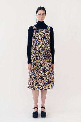 Arthur Arbesser Printed Apron Dress - Black/Yellow/Multi