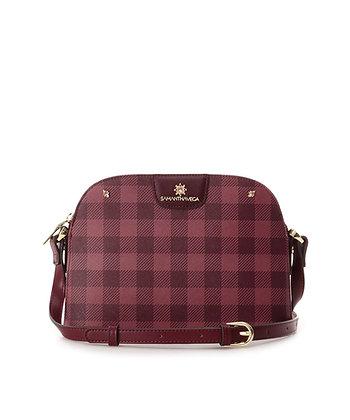 Samantha Vega Jenny Shoulder Bag - Red Check