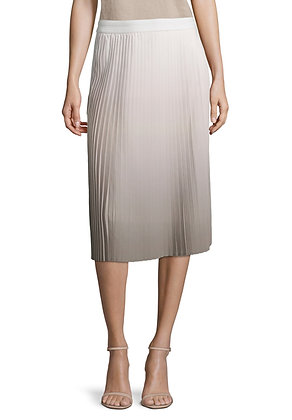 Betty Barclay Ombre Pleat Skirt - Beige/Taupe