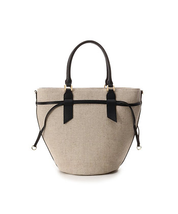 Samantha Thavasa Monique Tote Bag - Black/Linen