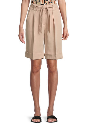 Betty Barclay Tie Shorts - Candied Ginger