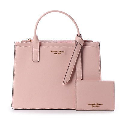 Samantha Thavasa Petit Choice Monica Tote with Mini Wallet - Light Pink