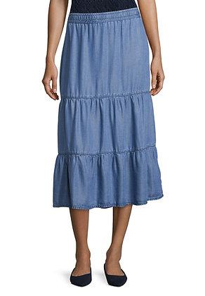Betty Barclay Light Blue Denim Midi Skirt