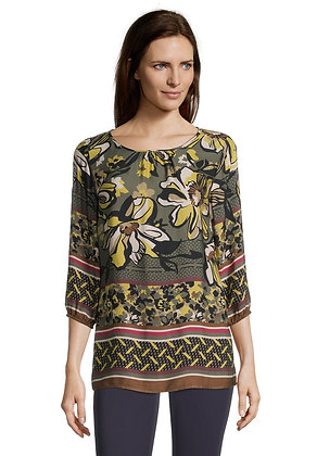 Betty Barclay Long Sleeve Blouse - Olive Floral