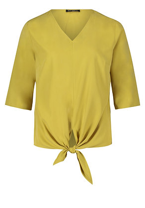 Betty Barclay Tie Blouse - Gold