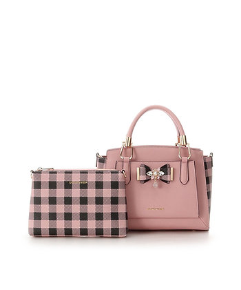 Samantha Vega Roye Side Check Bag - Pink