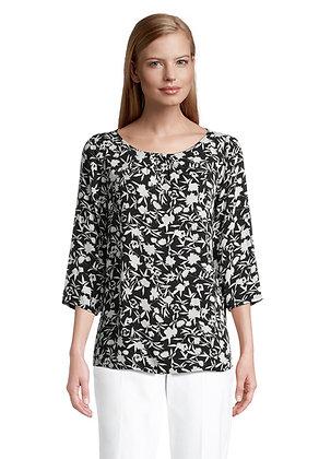 Betty Barclay Long Sleeve Blouse - Black/White