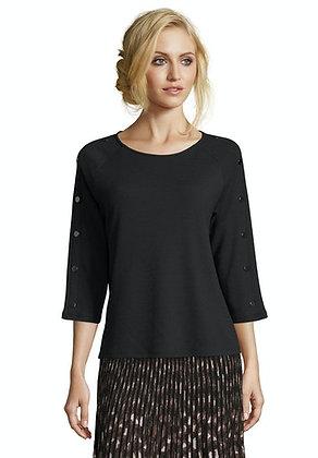 Betty Barclay Button Sweater - Black
