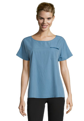 Betty Barclay Wide Neck Blouse - Blue