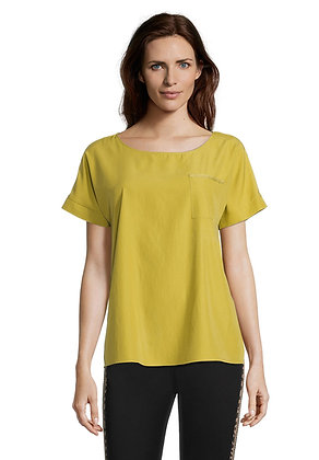 Betty Barclay Wide Neck Blouse - Gold
