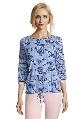 Betty Barclay Blue Printed Blouse
