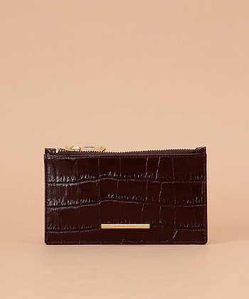 Samantha Thavasa Croco Card Case - Brown