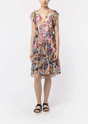Vivienne Tam SS20 Flower Power Ruffle Dress