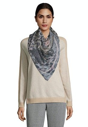 Betty Barclay Animal Print Scarf - Grey