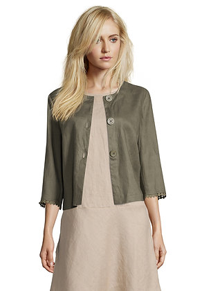 Betty Barclay Cropped Jacket - Olive