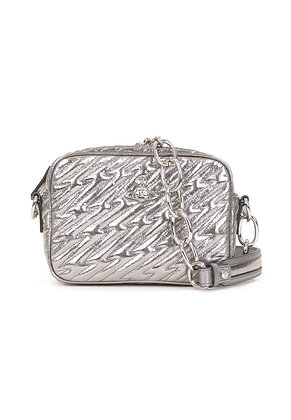 Vivienne Westwood Coventry Metallic Camera Bag - Silver