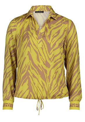 Betty Barclay Printed Shirt - Bright Yellow/Beige