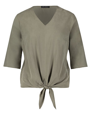 Betty Barclay Tie Blouse - Olive