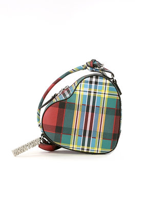 Vivienne Westwood Shuka Tartan Heart Crossbody Bag