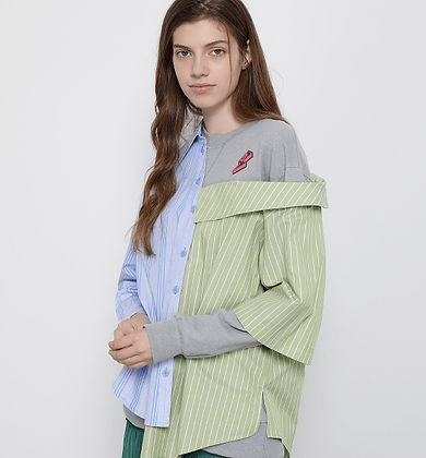SJYP Off-Shoulder Sweater Shirt