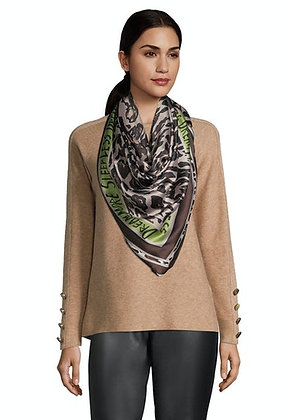 Betty Barclay Animal Print Scarf - Brown/Green