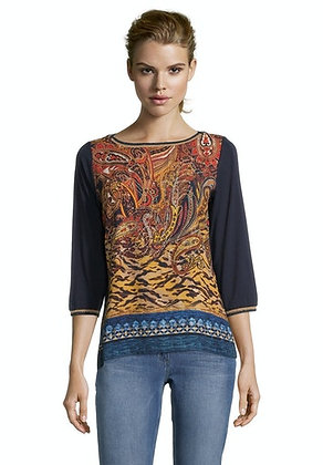 Betty Barclay Printed Puff Sleeve Blouse