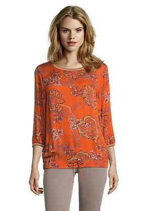 Betty Barclay Printed Blouse - Orange