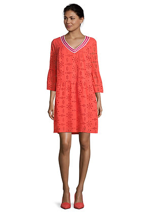 Betty Barclay Flared Sleeve Dress - Cayenne Red
