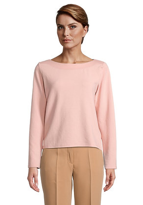 Betty Barclay Boat Neck Sweater- Mellow Rose