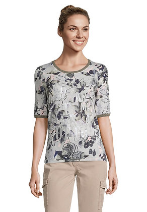 Betty Barclay Printed Tee - Olive Floral