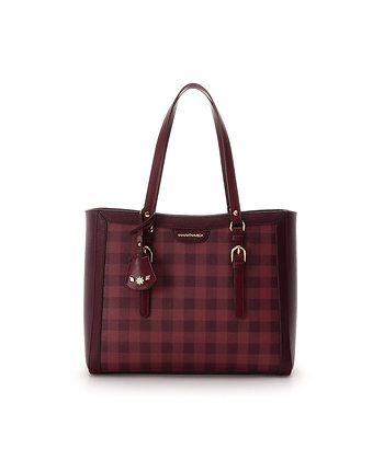 Samantha Vega Jenny Tote Bag - Red Check