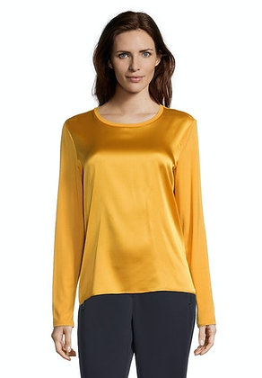 Betty Barclay Long Sleeve Satin Blouse - Golden Yellow