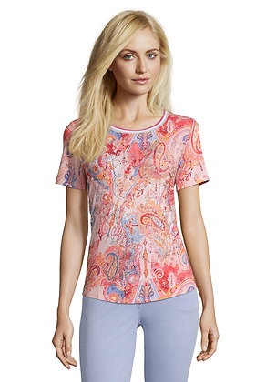 Betty Barclay Printed Tee - Red/Rose