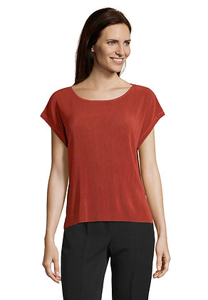 Betty Barclay Wide Neck Blouse - Rust