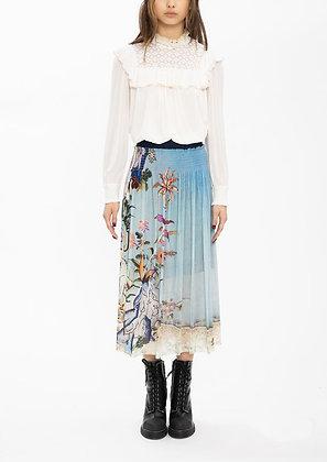 Vivienne Tam Scholars Rock Netting Skirt - Blue