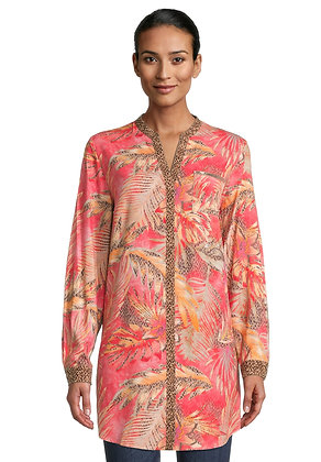 Betty Barclay Tunic Blouse - Red/Camel