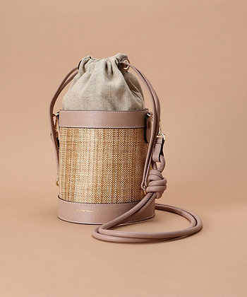 Samantha Thavasa Nadia Panama Bucket Bag - Pink Beige