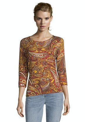 Betty Barclay Yellow/Beige Printed Blouse