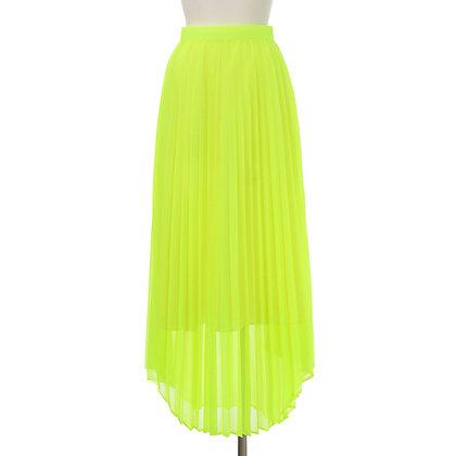 Taro Horiuchi Neon Yellow Long Pleats Skirt