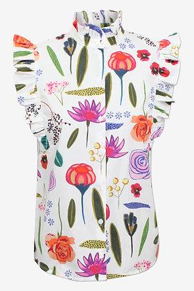 Baum und Pferdgarten Medora Shirt - White Floral